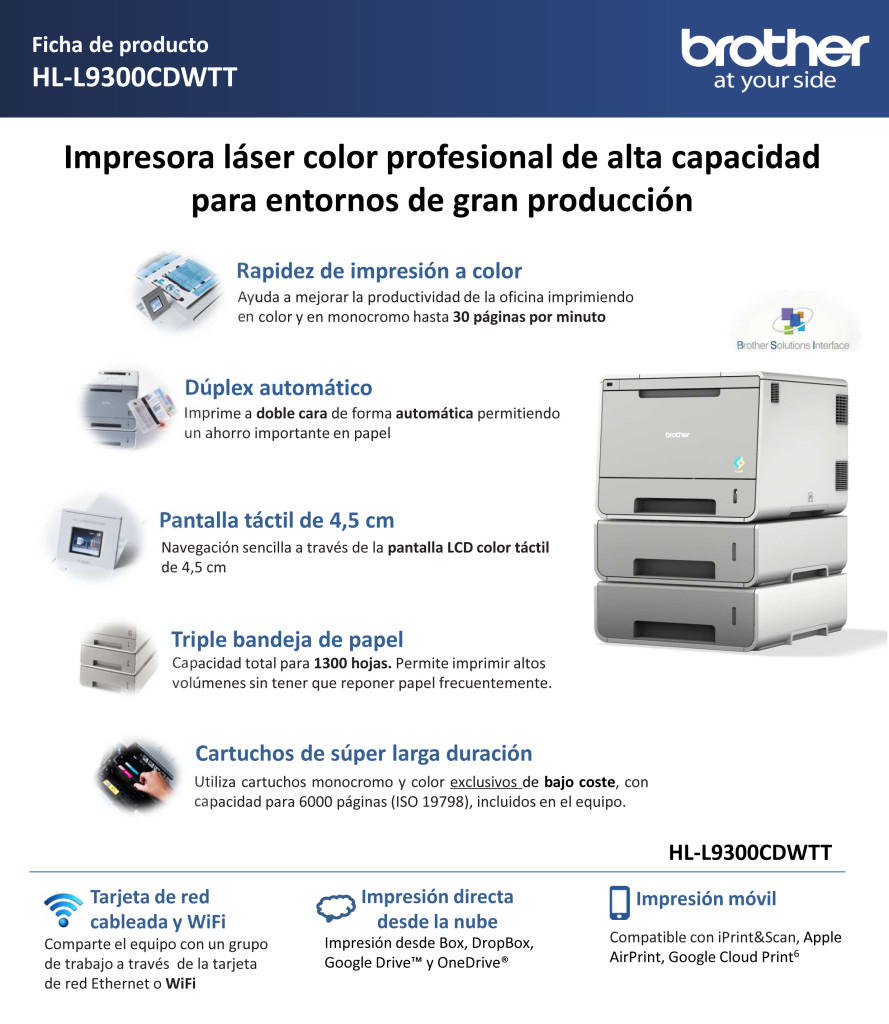 Ficha de producto HL-L9300CDWTT